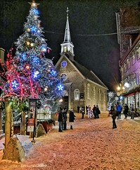 Québec, Canada. (B€rn@rd) Tags: québec canada hiver neige nuit ville noël