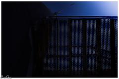 Gitterboden /grid floor (Reto Previtali) Tags: dark light licht dunkel weitwinkel windrad geometrie linien kreise blau blue unterbelichtet kreativ symmetrie sigma nikon nikkor flickr digital treppe stairway stahl stole struktur abstrakt symmetry