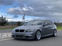 """Armon's BMW E90 335i with 18"""" FL-5 Wheels (ApexRaceParts) Tags: 18 fl5 18inch silver grey e90 e9x nonm 3series 335"""