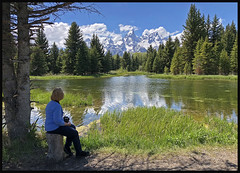 Grand Teton View (Photographic Poetry) Tags: nationalpark grandtetons yellowstone nature pond reflection schwabacherslanding