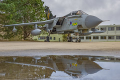 RAF Tornado GR.4 ZD716 Reflection (Mark_Aviation) Tags: raf tornado gr4 zd716 reflection gr4t 31sqn 31 squadron 9sqn 9 goldstar goldstars puddle photography reflect reflections military jet aircraft airplane retirement retire marham loud afterburner fast special paint painted scheme 2019