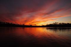 ...a cold March evening (Jim Atkins Sr) Tags: sunset spectacularsunsetsandsunrises cloudsstormssunsetssunrises cloudscape creek fairfieldharbour northcarolina finepix fujifilm hs30exr forest