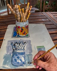#80/365 Sketching my Tub of Bamboo Dip Pens (imageo) Tags: art sketching dailyphoto 365project