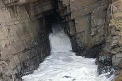 Rough Sea,Cliffs,Collieston_Mar 19_541 (Alan Longmuir.) Tags: grampian aberdeenshire collieston cliffs roughsea