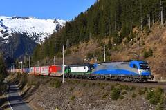 1216 920 + 193 720, TEC 40531. Mallnitz-Hintertal (M. Kolenig) Tags: 1216 193 tauernbahn berg schnee baum