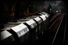 Empties to Arcow (Blaydon52C) Tags: gbrf gbrailfreight class66 dark light green railway rail railways railfreight railroad trains train transport locomotive locomotives loco locomotion oakenshaw wakefield yorkshire normanton 6m31 arcow hexthorpe 66776