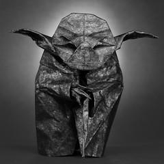 Yoda (legopicler) Tags: bw jedi yoda biotope origami may fourth