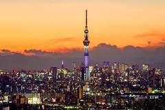 Tokyo Skytree 東京天空樹 (Jennifer 真泥佛) Tags: ilink階展望台 longexposure tokyoskytree 東京天空樹 東京 千葉 市川 日本 夜景 點燈 2018 tokyo japan