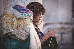 Knitting (Cortez_CRO) Tags: zadar zadarcounty croatia hr 2018 street knit knitting summer candid