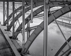 Bridge # 8 ... ; (c)rebfoto (rebfoto ...) Tags: bridge laurierbridge monochrome structuraldetail rebfoto blackandwhite architecturalphotography