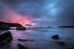 Colorful sunset (Sami Länsipaltta) Tags: kukola auringonlasku meri mökillä sunset colorful ocean finland landscape seascape