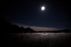 lake fever (parfois) Tags: aprilwasteland parfois koyanagi hatley lake fog night nightphotography melancholy landscape lakescape ghost lakefever clouds water darkness moonlight moonscape silence marine