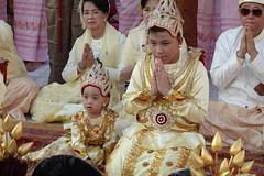 Ordination ceremony for novice Buddhist monks, Shwedagon Pagoda, Yangon (21) (Prof. Mortel) Tags: myanmar burma yangon rangoon buddhist pagoda shwedagon monks