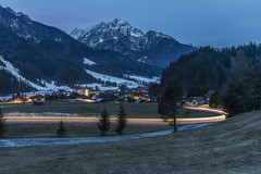 Podkoren (manuel.thaler) Tags: mountain range landscape peak valley snowcapped scenic scenery blue hour podkoren slovenia kranjska gora