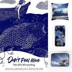 Don't Feel Blue! Take 20% of Everything Today Including These Laptop Sleeves, Pillows, IPhone Cases and Much more! Use code BLUE20 — Expires January 21, 2019 11:59pm Available exclusively from DouglasEWelch.com/shop/ Laptop Case Features * Custom front pr (dewelch) Tags: