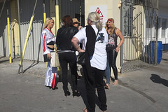 Outside Coney Beach funfair (kevin Akerman) Tags: women coney beach porthcawl elvis festival people group