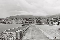 Sanremo, Liguria, Italy.  Canon eos 3000V + ilford delta 100 (paolapaoletta) Tags: biancoenero blackandwhite canoneos3000v delta100 ilford sanremo liguria italy porto harbor