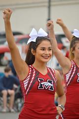Glowing with school pride (radargeek) Tags: september 2018 mustangwesterndaysparade mustang oklahoma highschool hs cheerleaders braces