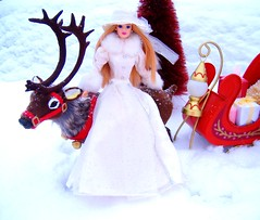 Father Christmas #7 (Bridget_John316) Tags: winter ride barbie mackie father christmas santa claus reindeer sled presents narnia