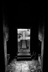 End of your comfort zone (Cédric Nitseg) Tags: nikon asie siemreap greelow travelling backpacking backpacker asia travel angkorwat door cambodge bw voyage d7000 blackandwhite temple cambodia
