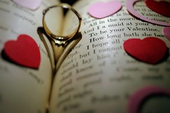 To Be Yours (matthileo) Tags: heart hearts romance romantic ring shadow red pink valentine valentines day valentinesday shakespeare williamshakespeare hamlet book text typography shadows light lighting backlight backlit paper paperheart paperhearts stilllife macro sweet cute