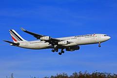 Airbus A340 ~ F-GLZJ  Air France (Aero.passion DBC-1) Tags: spotting cdg 2013 dbc1 david aeropassion biscove aviation airport roissy aircraft avion plane airlines airliner airbus a340 ~ fglzj air france