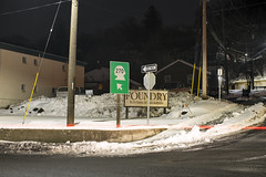 270 (Curtis Gregory Perry) Tags: pullman washington sign 270 highway night longexposure arrow shield wa paradise street road winter snow nikon d810