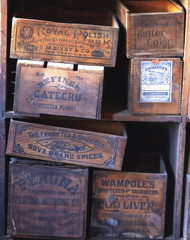 The Old Boxes (Rob Shenk) Tags: alexandria apothecary boxes oldboxes box woodenbox oldmarketing marketing vintage