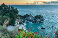 An Evening in Big Sur (Jeff Bentz Photography) Tags: sunset nikond810 waves coast pacific ocean mcwayfalls falls mcway bigsur california