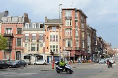 6236 Straßenecke am Boulevard de l'Est in Lüttich / Liège. (stadt + land) Tags: strasenecke boulevard de lest lüttich liège belgien stadt maas bilder sehenswürdigkeiten impressionen stadtportrait rundgang