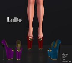 LaDo Design _ Florenza Heels (LaDo Design) Tags: mesh 3d avatar secondlife second life boots shoes shoe color moda design bento maitreya belleza slink tonic model