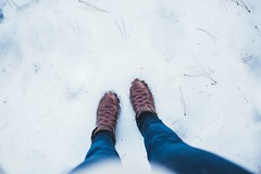 Snow time (Christine Quarte) Tags: winter snow myview boots south dakota perspective white ice
