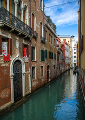 Small canal in the old town, Veneto, Venice, Italia (Eric Lafforgue) Tags: architecture canal city cityscape colourimage cultures day europe europeanculture famousplace history internationallandmark italia italianculture italy medieval mediterraneanculture nopeople old outdoors photography romance scenics tourism town travel traveldestinations unescoworldheritagesite vacations venetianlagoon veneto venice veniceitaly venise064 vertical water westerneurope it