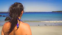 Looking (7austins) Tags: woman wife mom family ocean beach looking back brunette blue