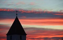 Munich - Afterglow (cnmark) Tags: germany munich deutschland münchen bayern bavaria amhart sunset sonnenuntergang afterglow clouds wolken kirche church 14nothelfer silhouette ©allrightsreserved