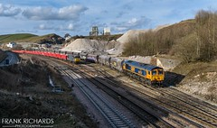 66757 | Peak Forest | 5th March '19 (Frank Richards Photography) Tags: 66757 west sommerset railway peak forest gbr freight british great rail uk england blecthley dale dove holes derbyshire nikon d7100 march 2019 5th locomotive diesel class66 gb 4h03 the0957bletchleycemex–peakforestcemexemptyhoppers buxton