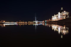 Night Reflections of St. Petersburg. (vazek2007) Tags: reflections water night nightcity lights landscape city cityscape river ship saintpetersburg ricoh ricohgr gr2
