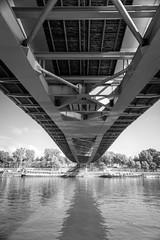 Now we are coasting (.KiLTRo.) Tags: kiltro fr france paris sena river seine water bridge pont perspective contrast bw