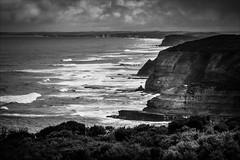 P2251949-Edit Gables to 12 Apostles-2 (Dave Curtis) Tags: blackandwhite victoria greatoceanwalk 2014 australia em5 omd olympus places september