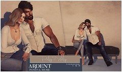 Ardent Poses - Palsy-Walsy Ad (Ardent Poses) Tags: secondlife second life sl avatar 2nd 2ndlife avi virtual vr 3d inworld poses pose ardent photography people exclusive avatars event love couple couples release new hold broderick logan ena roane enaroane bento advertisement sidewalk sale ardentposes
