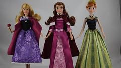 2019 Singing Princess Dolls - Aurora, Belle, Anna (drj1828) Tags: disneystore singing boxed purchase 12inch aurora princess anna belle briarrose groupphoto box video