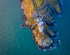 Lighthouse Baily (juansánchez.) Tags: drone aerial aerialview dji mavic2 landscape sea seascape lighthouse coast cliffs sunset sunsetbeach ocean