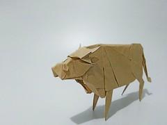 🐮 (guangxu233) Tags: paper art paperart paperfolding fold origami origamiart handmade cattle 折纸 折り紙 折り紙作品