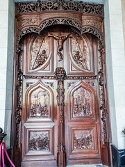 Puerta de madera tallada interior Real Basilica de San Francisco el Grande Madrid 03 (Rafael Gomez - http://micamara.es) Tags: puerta de madera tallada interior real basilica san francisco el grande madrid