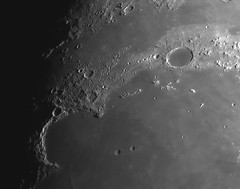 20190116 21-19 Plato and the Jewelled Handle (Roger Hutchinson) Tags: moon space astronomy astrophotography london celestronedgehd11 asi174mm sinusiridum montesjura plato