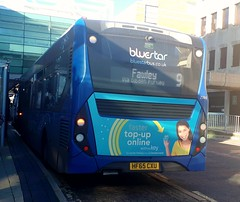 Bluestar 2744 is loading up at the West Quay bus stop before leaving on route 9 to Fawley via Dibden Purley. - HF65 CXU - 19th October 2018 (Aaron Rhys Knight) Tags: bluestar 2744 2018 hf65cxu gosouthcoast southampton enviro200mmc