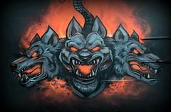 Cerberus (Keith Mac Uidhir 김채윤 (Thanks for 8m views)) Tags: cerberus graffiti street art red black dog dogs head heads paint ireland dublin irish dublino irland ierland irlanda irsko irlande irlanti irlandia írország irska írẹ́lándì iirimaa