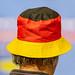Nahaufnahme von Fan mit Hut in Deutschlandfarben an Handball Weltmeisterschaft 2019