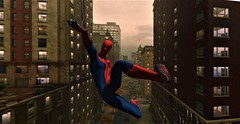 """""""With great power comes great responsibility"""" (maka_kagesl) Tags: secondlife sl second life game gaming virtual videogame spiderman spider man cosplay newyork nyc swing web comic comics marvel hero superhero sky air buildings building"""