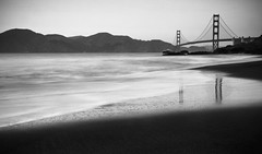In a bit of a black and white mood (...Annie) Tags: black white goldengate bridge sanfrancisco california waves beach baker tide water reflection bay